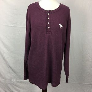 PINK Victoria's Secret Maroon Thermal L/S Shirt